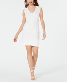 French Connection Lula Scalloped Sheath Dress