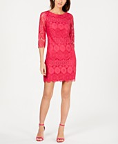 a6dff122 Jessica Howard Petite 3/4-Sleeve Lace Sheath Dress