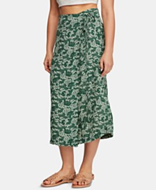 Free People Yasmin Printed Pencil Wrap Skirt
