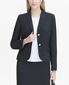 Flap-Pocket Two-Button Blazer