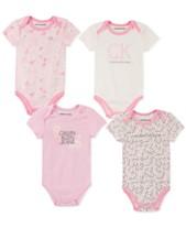 5a58846f8 Calvin Klein Baby Girls 4-Pk. Printed Bodysuits
