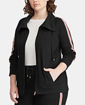 c7ec70fdd3a Lauren Ralph Lauren Plus Size Cotton Active Zip Front Jacket