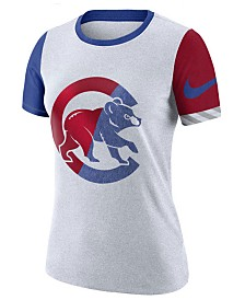 Nike Women's Chicago Cubs Slub Logo Crew T-Shirt
