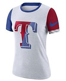 Nike Women's Texas Rangers Slub Logo Crew T-Shirt