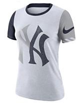 646e25a10 Nike Women s New York Yankees Slub Logo Crew T-Shirt