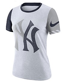 Nike Women's New York Yankees Slub Logo Crew T-Shirt