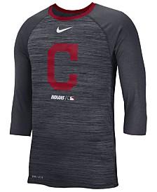 Nike Men's Cleveland Indians Velocity Raglan T-Shirt