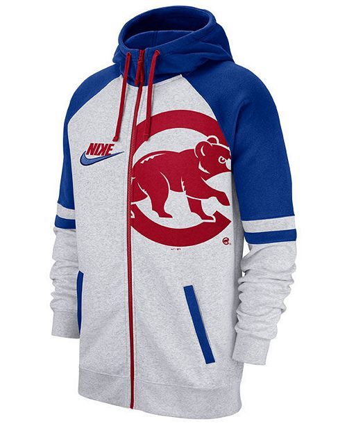separation shoes 9bf03 49097 Nike Men's Chicago Cubs Walkoff Full-Zip Hoodie & Reviews ...