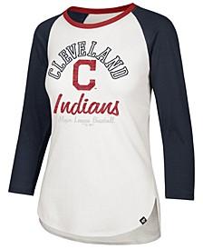 Women's Cleveland Indians Splitter Raglan T-Shirt