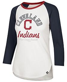 '47 Brand Women's Cleveland Indians Splitter Raglan T-Shirt
