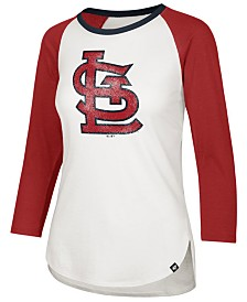 '47 Brand Women's St. Louis Cardinals Splitter Raglan T-Shirt