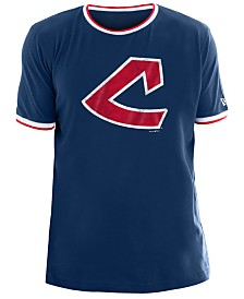 New Era Men's Cleveland Indians Ringer Crew Top