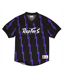 Mitchell & Ness Men's Toronto Raptors Kicking It Wordmark Mesh T-Shirt