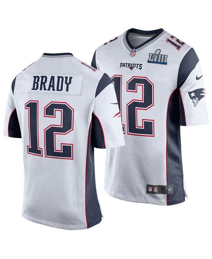 Nike Men's Tom Brady New England Patriots Super Bowl LIII Patch ...