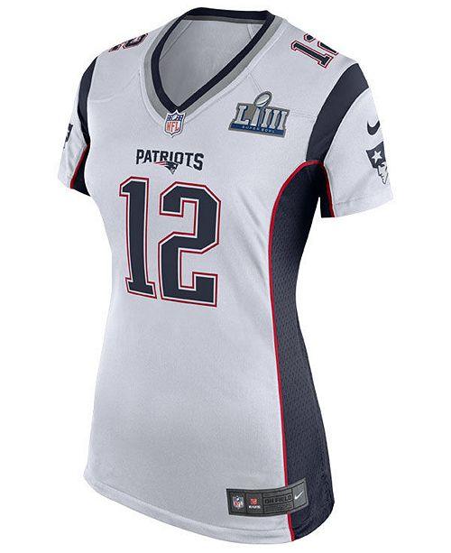 buy online ff17c f83aa Women's Tom Brady New England Patriots Super Bowl LIII Patch Jersey