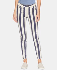 Vince Camuto Striped Skinny Jeans