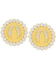 Gold-Tone Lucky Goddess Medium Clip-On Earrings