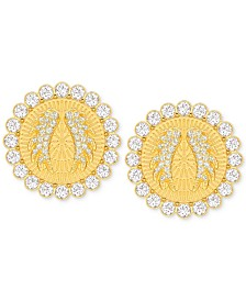 Swarovski Gold-Tone Lucky Goddess Medium Clip-On Earrings