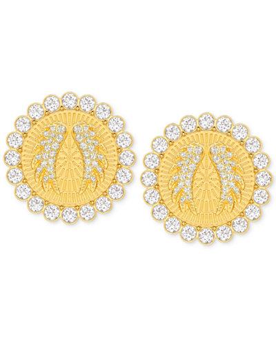 Swarovski Gold-Tone Lucky Goddess Medium Clip-On Earrings