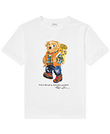 Polo Ralph Lauren Big Boys Camping Bear Cotton T-Shirt
