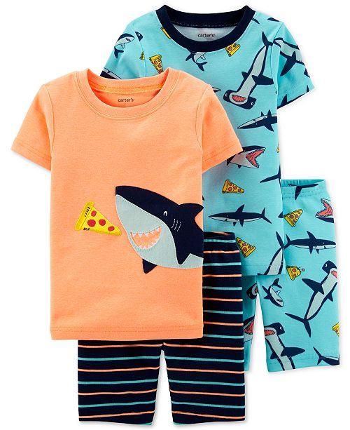 Carter's Toddler Boys 4-Pc. Shark Pajamas Set