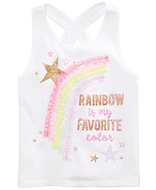 Epic Threads Little Girls Rainbow-Print Tank Top, Created for Macy's
