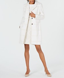 Elie Tahari Tonal Checked Coat