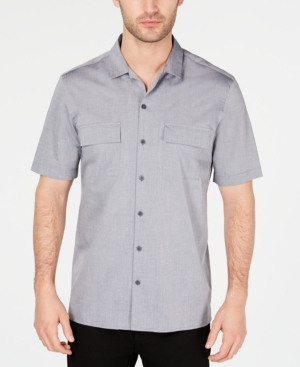 Retro Clothing for Men | Vintage Men's Fashion Alfani Mens Camp Collar Shirt Created for Macys $15.93 AT vintagedancer.com