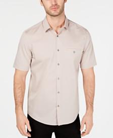 Alfani Men's STRETCH Modern Stripe Pocket Shirt, Created for Macy's