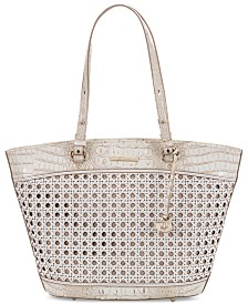 Brahmin Bowie Lima Leather Tote