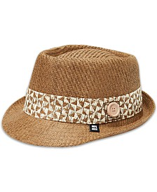 B BLOCK Headwear Men's Straw Fedora