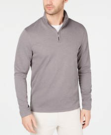 Alfani Men's Textured Quarter-Zip Sweater, Created for Macy's