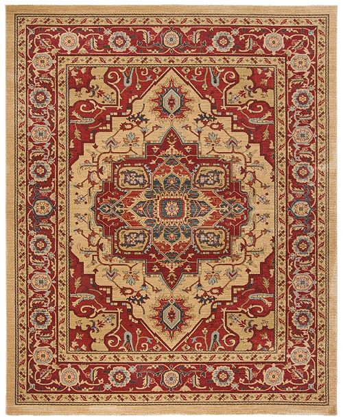Safavieh Mahal Red and Natural 8' x 10' Area Rug