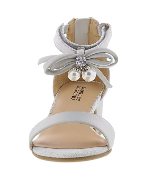 30003c9d57af Badgley Mischka Little   Big Girls Pernia Pearl Bow Heel   Reviews ...