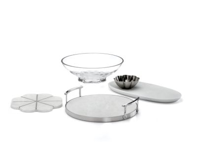 new york Gramercy Centerpiece Bowl with Glass Foot