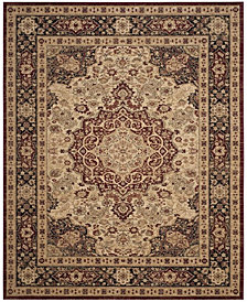 Safavieh Lavar Kerman Cream and Navy 8' x 10' Area Rug