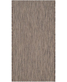 "Safavieh Courtyard Brown and Beige 2' x 3'7"" Sisal Weave Area Rug"