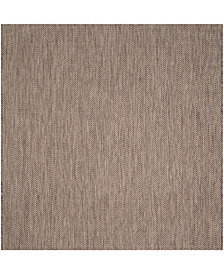 "Safavieh Courtyard Brown and Beige 6'7"" x 6'7"" Sisal Weave Square Area Rug"