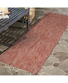"Safavieh Courtyard Red 2'3"" x 12' Runner Area Rug"