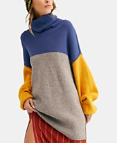 8fe529e74b91 Free People Softly Structured Colorblocked Turtleneck Sweater