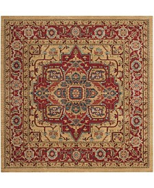 "Safavieh Mahal Red and Natural 5'1"" x 5'1"" Square Area Rug"