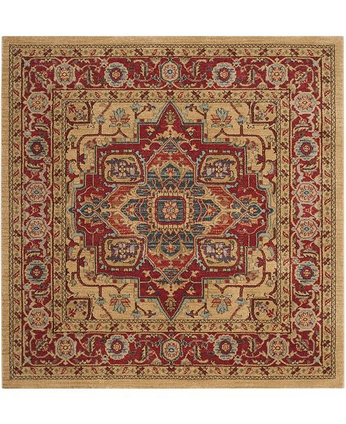 """Safavieh Mahal Red and Natural 5'1"""" x 5'1"""" Square Area Rug"""