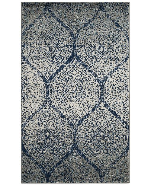 Safavieh Madison Navy and Silver 3' x 5' Area Rug