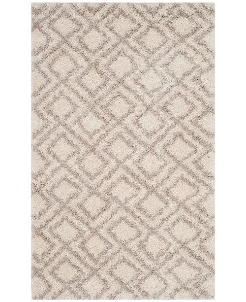 Safavieh Arizona Shag Ivory and Beige 3' x 5' Area Rug