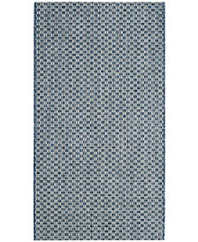 "Safavieh Courtyard Blue and Light Gray 2' x 3'7"" Sisal Weave Area Rug"