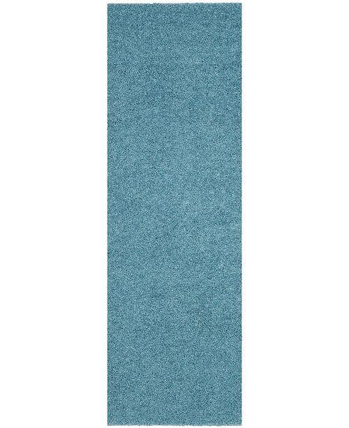 "Safavieh Arizona Shag Aqua 2'3"" x 8' Sisal Weave Runner Area Rug"