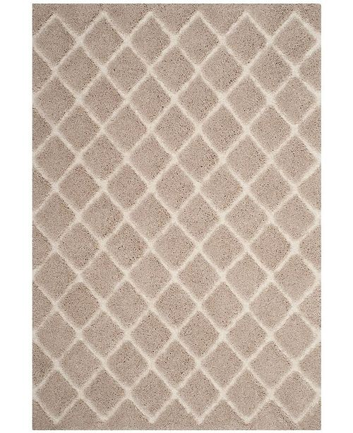 Safavieh Adriana Shag Beige and Cream Area Rug Collection