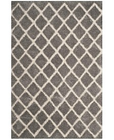 Safavieh Adriana Shag Light Gray and Cream 4' x 6' Area Rug