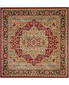 "Safavieh Mahal Natural and Navy 5'1"" x 5'1"" Square Area Rug"