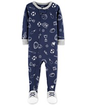 Carter s Baby Boys Sports-Print Footed Cotton Pajamas 8e28f559e